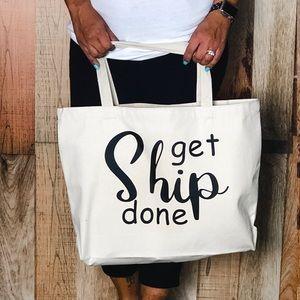 Handbags - Canvas tote (small) Posh swag  - Get Ship Done